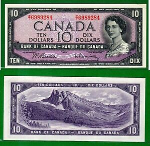 Canada - 1954 Bank of Canada  $10 Dollars P79b Banknote aUNC Condition