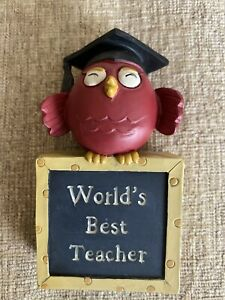 Blossom Bucket World's Best Teacher Shelf Sitter Sign Deb Strain