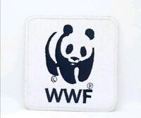 WWF Panda Logo Embroidered Iron Sew on Patch j332