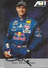 Autogramm Karl Wendlinger Motorsport Formel Formula 1 90er handsigniert Red Bull