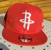 Houston Rockets NBA Red White Embroidered Hat Snapback Adjustable Cap