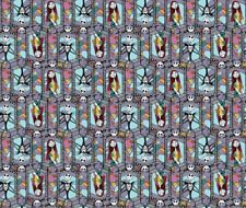 """Disney 65164 Sally and Jack Stained Glass 100% Cotton Fabric Remnant 24"""""""