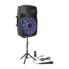 PLS PARTY-15 Pack 15 800W Speaker Sound System Bluetooth, Remote & Mic