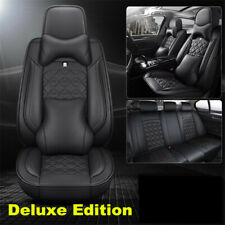 Luxury Car Seat Cover 6D Surround Seat Cushion Breathble Leather Pad  w/Headrest