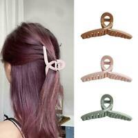 Women Resin Transparent Large Hair Claw Hair Clip Hair Crab Hairpins L3D1