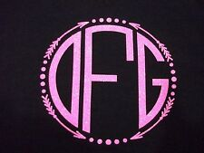 """3"""" DIY GLITTER Vinyl Monogram For Clothing, Iron On, You Pick Color and Style"""