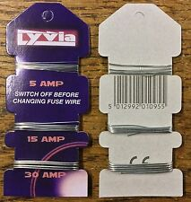 2 CARDS OF FUSE WIRE 5/15/30 AMP SUPALEC