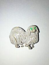 Vintage Gerry'S Signed Pekingese Dog Pin Rhinestone Enamel Animal Jewelry J0108