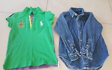 Ralph Lauren Girl's 1x Polo Shirts & 1x Top Denim, size 4, Pre Owned $35.00