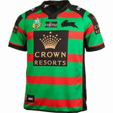 South Sydney Rabbitohs NRL 2016 home shirt ISC rugby jersey Small S Australia