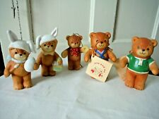 Vintage Enesco Lucy and Me Riggs Rigglets Bear Figurines Sailor,Easter Lot 5 Exc