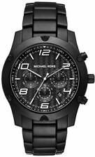 Michael Kors MK8473 Caine Chronograph Black IP Steel Mens Watch Gift 100 meters