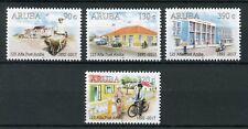 Aruba 2017 MNH Aruba Post 125 Yrs 4v Set Motorcycles Cars Postal Services Stamps