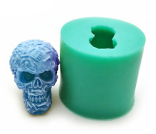 3D Skull Shaped Silicone Molds For Soap Candle Making Resin,Clay Crafts Moulds