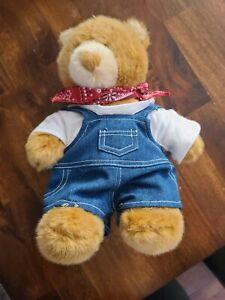 """Stuff-a-Bear Denim Overalls Fits all 14/""""-18/"""""""