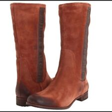 NIB UGG Annisa Rustic Riding Boots Leather Suede Cinnamon Brown Shoes W's 8.5