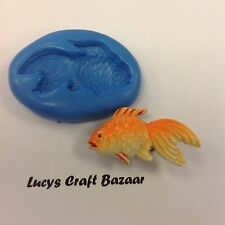 Silicone Mould Gold Fish Sugarcraft Fimo Flower Paste Chocolate Cupcake Topper