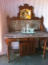 Antique Marble Topped Dry Sink 1800's