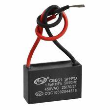 CBB61 AC 450V 1.5uF 2-Cable-Puerto Ventilador de Techo Motor Run Condensador