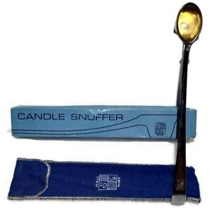 VTG Candle Snuffer SG Hallmark England Silver Plate Opulent Fiddle Rib Design