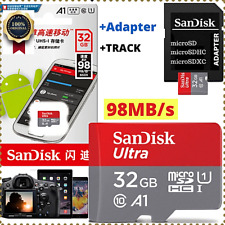 NEW 32GB SANDISK ULTRA Speed 98MB/s flash MEMORY microCARD SDHC U1 Cl 10+ADAPTER
