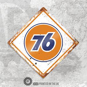 Diamond 76 Fuel Metal Wall Sign Pub Bar Home Retro Garage Shed Hotrod VW dub