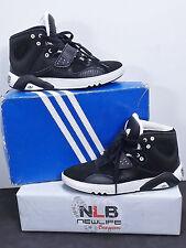 RARE Adidas Originals Roundhouse Mid J Black/White G65737 Boy's Size 5