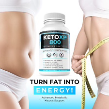 Keto XP Weight Loss Diet Pills Fat Burner Supplement for Men Women 800mg 60ct