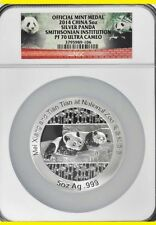 2014 China 5oz Silver Panda Smithsonian Institution NGC PF70 Proof