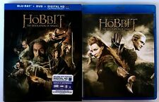 THE HOBBIT THE DESOLATION OF SMAUG BLU RAY DVD + SLIPCOVER SLEEVE FREE SHIPPING