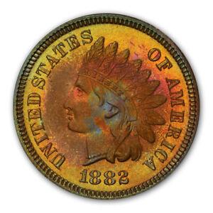 1882 1C Indian Cent - Type 3 Bronze PCGS PR66BN