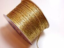 Metallic Gold Rat Tail Satin Cord 1/8 inch wide x 10 yards, Schiff Finesse