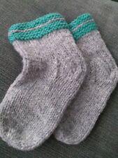 Unique Handmade Newborn baby chaussettes de laine de mouton Organique Tricoté Chaussettes Vêtements