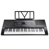 61 Key Electronic Music Keyboard Piano Organ LCD Display w/USB Input & Lessons