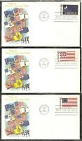 US SC # 1345-1354 Historic Flag Series FDC . Fleetwood Cachet