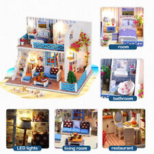 Doll House Miniature DIY Kit Dolls Toy House W/ Furniture LED Handcraft Gift
