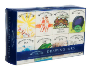 Winsor & Newton Drawing Ink Set William Collection 8 x 14ml