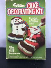 Wilton Cake Decorating Kit Santa Snowman Christmas Vintage 1978