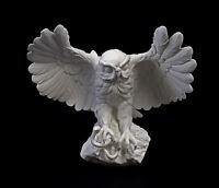 9959238 Porzellan Figur großer Steinkauz Eule fliegend weiß bisquit Ens 33x35cm