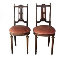 Paire chaises acajou style Louis XVI époque XIXème