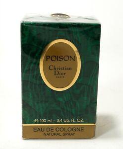 RARE NIB SEALED Poison Eau de Cologne EDC Spray Women Dior 3.4oz 100ml