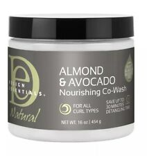 NEW Design Essentials Natural Almond & Avocado Nourishing CoWash Curly Hair 16oz