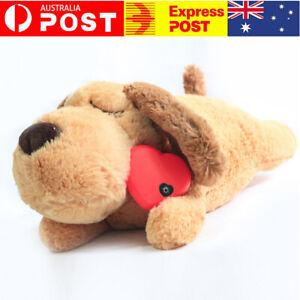 Lifelike Puppy Toy w/ Heartbeat Relieve Dog Anxiety Soft Plush Sleeping Toy Gift