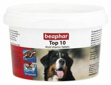 Beaphar Top 10 Dog Multi Vitamins 180 Tablets Tub For Dogs