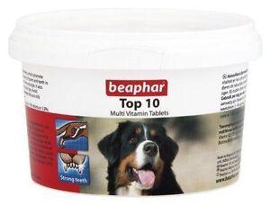 Beaphar Top 10 Dog Multi Vitamins 180 Tablets Tub For Dogs