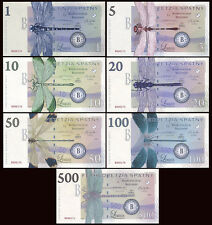 SET, Territory of West Junee, 7 Banknotes, Limited Issue Dragonfly