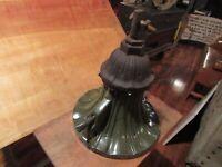 Vintage RARE Cast Iron w/ Green Porcelain Cement Farm Industrial Light Fixture