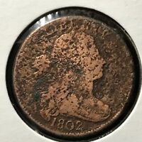 1802 DRAPED BUST LARGE CENT SCARCE COIN