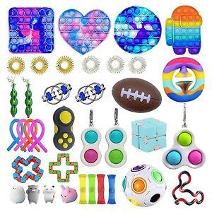 50 Pack Fidget Toys Set Sensory Tools Bundle Stress Relief Hand Kids Adults Toy