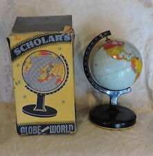 Mappamondo vintage latta con scatola Chad Valley 1950 Boxed Tin ToyGlobe  12cm